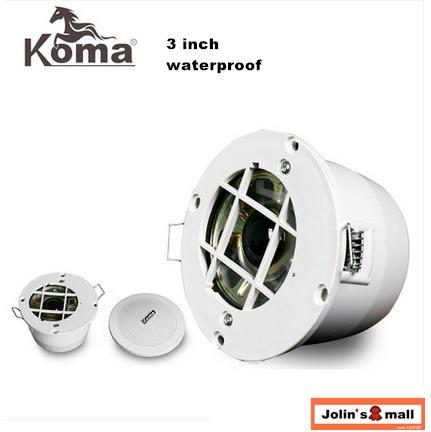 2 Stücke 3 Zoll Contant Spannung Wasserdichte Decke Lautsprecher Für Badezimmer Hintergrund Musik Kleine Offene Loch Montage