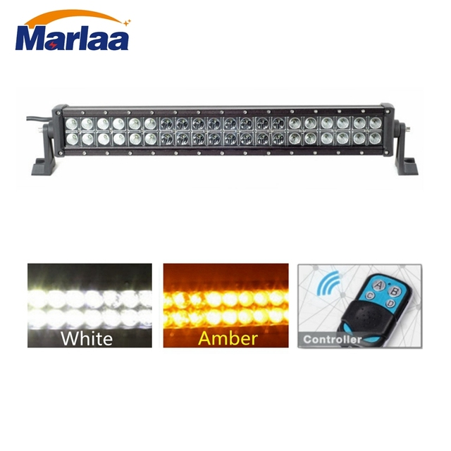 22 Amber White Led Light Bar 120w Flood Spot Combo Beam Work Lamp With Wireless Remote Controller In Light Bar Work Light From Automobiles
