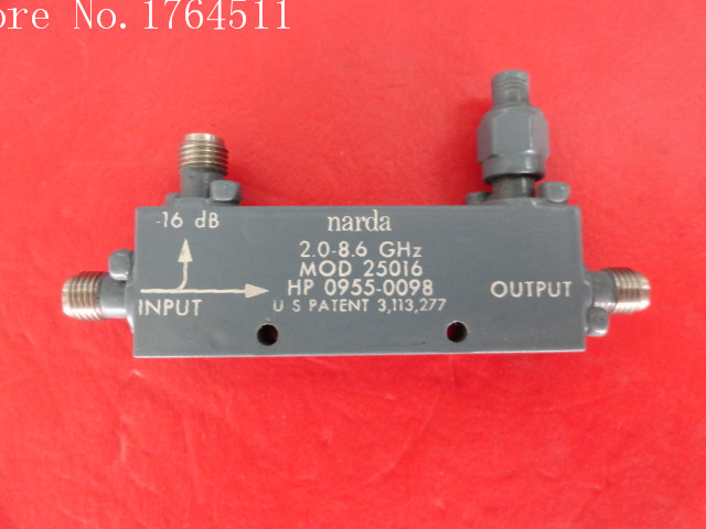 [BELLA] Narda 25016 2.0-8.6GHz Coup:16dB SMA Directional Coupler