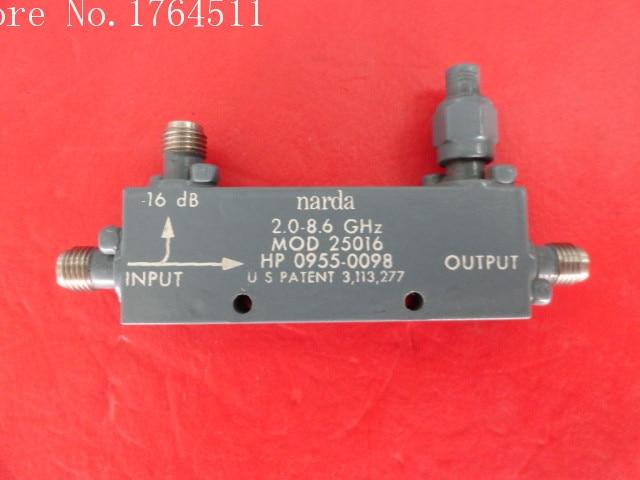 [BELLA] Narda 25016 2.0-8.6GHz Coup:16dB SMA Directional Coupler