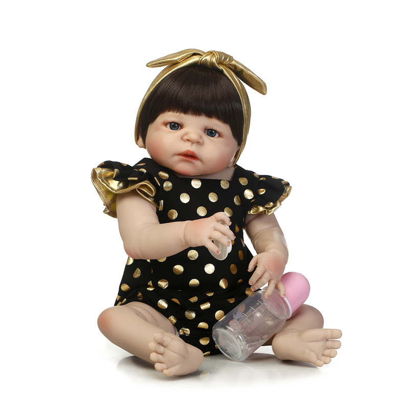 girl bebe reborn doll Full Body menina de silicone meninan 55cm Reborn babies DollsToys Lifelike baby born Child Christmas Gift christmas gifts in europe and america early education full body silicone doll reborn babies brinquedo lifelike rb16 11h10