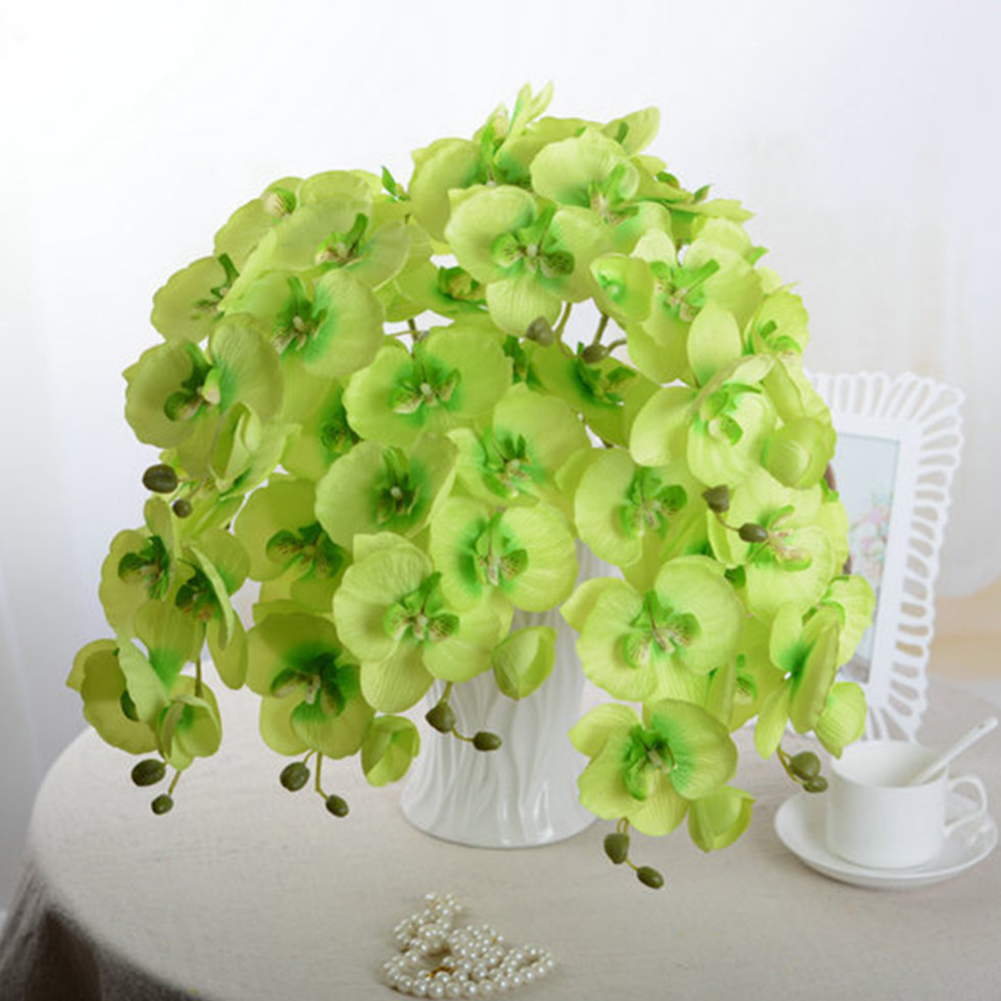 Fashion Fake Orchid Artificial Flowers DIY Artificial Butterfly Orchid Silk Flower Bouquet Phalaenopsis Wedding Home Decoration