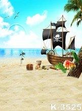 New Arrival Background !!! Romance Sea Photo Theme Blue Sky Photography Muslin Backdrops Comfortable Sandy Beach Backgrounds