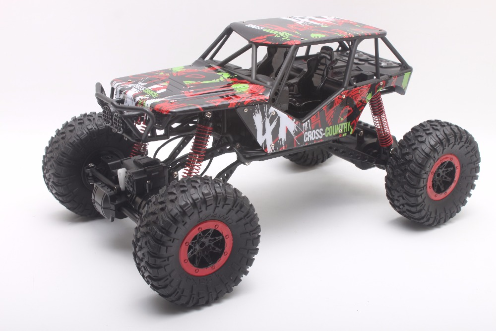 Coche Del RC 2.4 GHz Rock Crawler Truck 1:10 Escala 4WD Rally Car Off-road Carre