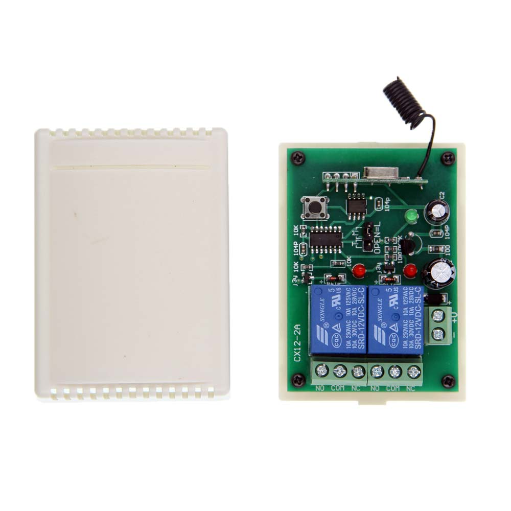 DC 12V 24V 2 CH 2CH RF Wireless Remote Control Switch System,315/433.92MHZ Receiver Only