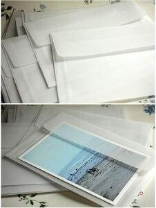 Image 2 - 50 sztuk/partia nowa Korea Vintage puste przezroczyste koperty vellum DIY wielofunkcyjny ovely prezent