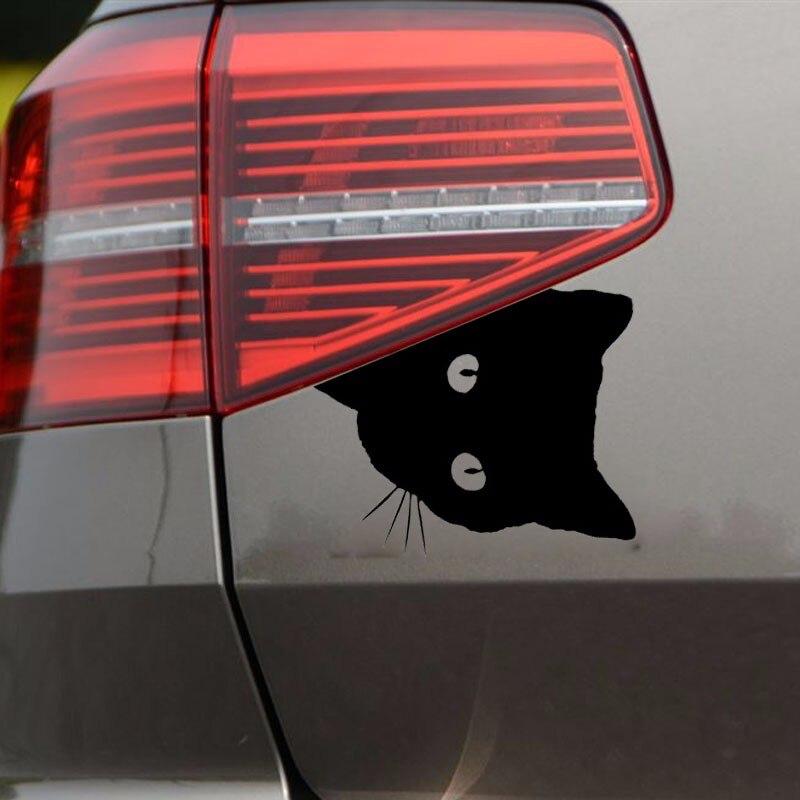 12*15CM CAT FACE PEERING Car Sticker Decals Pet Cat Motorcycle Decorative Stickers Car Window Decals C2-0089 13