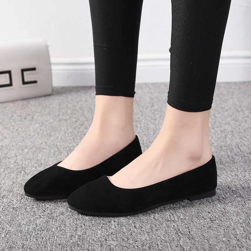 EAGSITY ผู้หญิงรองเท้าแบนรองเท้า pointed toe สบาย loafers dance party office ทำงานสบายๆรองเท้า