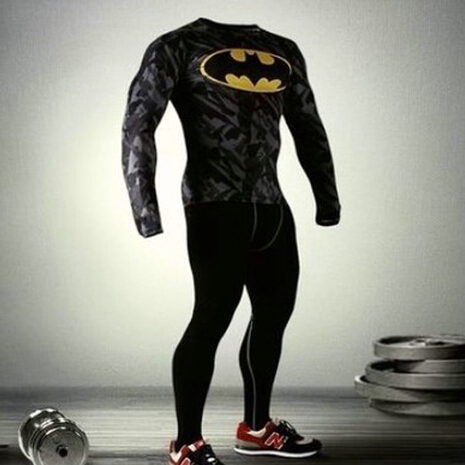 da014c2df5d49 Men Marvel Superhero Compression Armour Shirt Tights Men Thermal Under Tops  Tee Shirts Casual T shirts Workout Tops Clothes