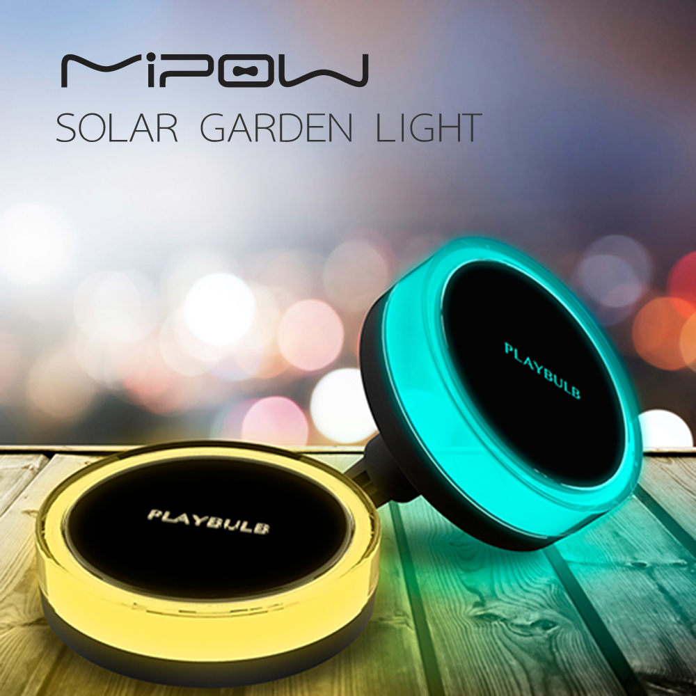 MIPOW Smart Solar RGB LED Lamp IP68 Waterproof Pool Light Free APP Control Garden decoration garden light
