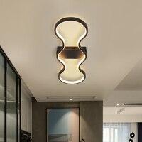 Ererrec alumínio led lâmpadas de teto modernas luzes de teto led para sala estar quarto decoração casa iluminação luminárias teto