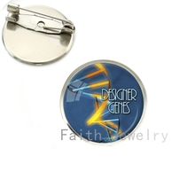 Wholesale Biology Chemistry Jewelry Science enes DNA pture brooch pins Chemistry Molecule brooches students Scientist NS192