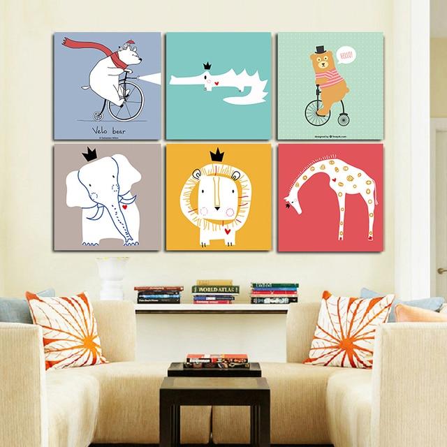 Kawaii Animal Giraffe Poster Printing Modern Nordic Cartoon Nursery Wall Art  Decoration Painting Children Baby Room