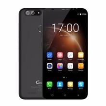 Гретель S55 двойной сзади Камера Мобильный телефон 5.5 дюймов HD MT6580A Quad Core Android 7.0 1 ГБ + 16 ГБ 8MP Cam отпечатков пальцев 3 г телефона