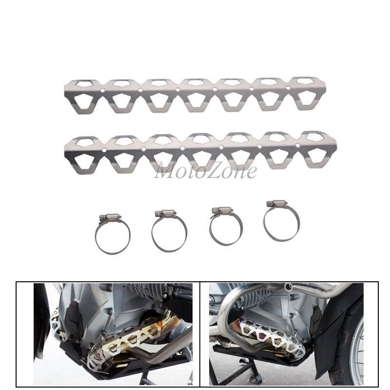 Motorcycle Accessories Parts Stainless Steel Exhaust Guards Pipe Cover Protection Fit For BMW F800GS F650GS F700GS