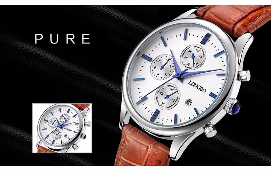 leather quartz watch