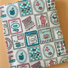 Cute Patterns Printed Cotton Linen Fabric Abrasion-Resistant Canvas Material For DIY Patchwork Quilting