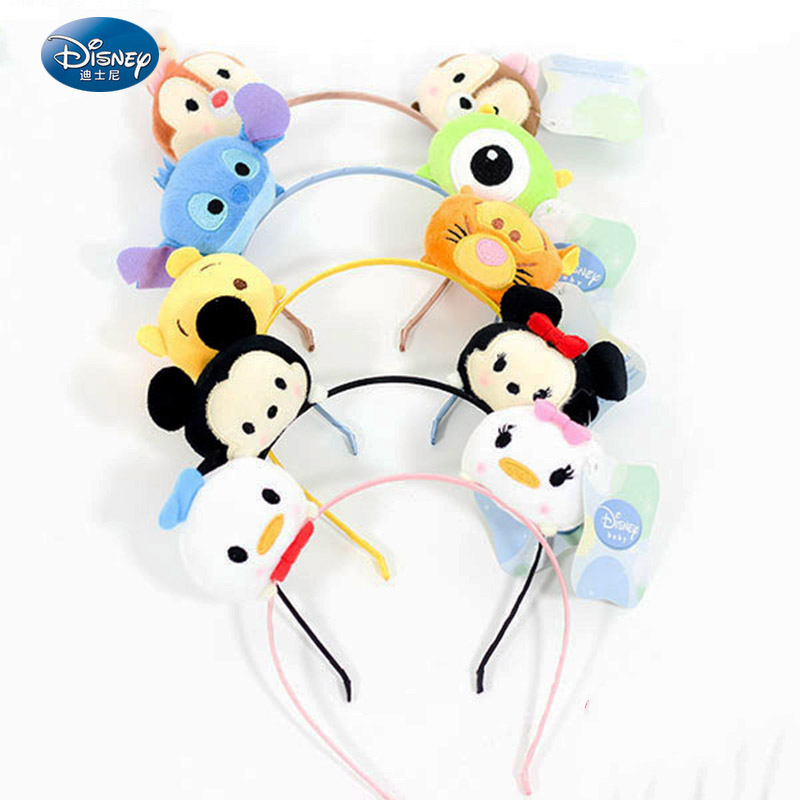 Disney Beauty Mickey Minnie Mouse  Headband Festive Party Headdress Stich Ear Hair Buckle Kids Gift
