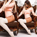 Sexy Plunge V Long Sleeve Women Spring Autumn Bodysuits Playsuits Rompers Women Jumpsuits Side Cross Lace Up Shorts