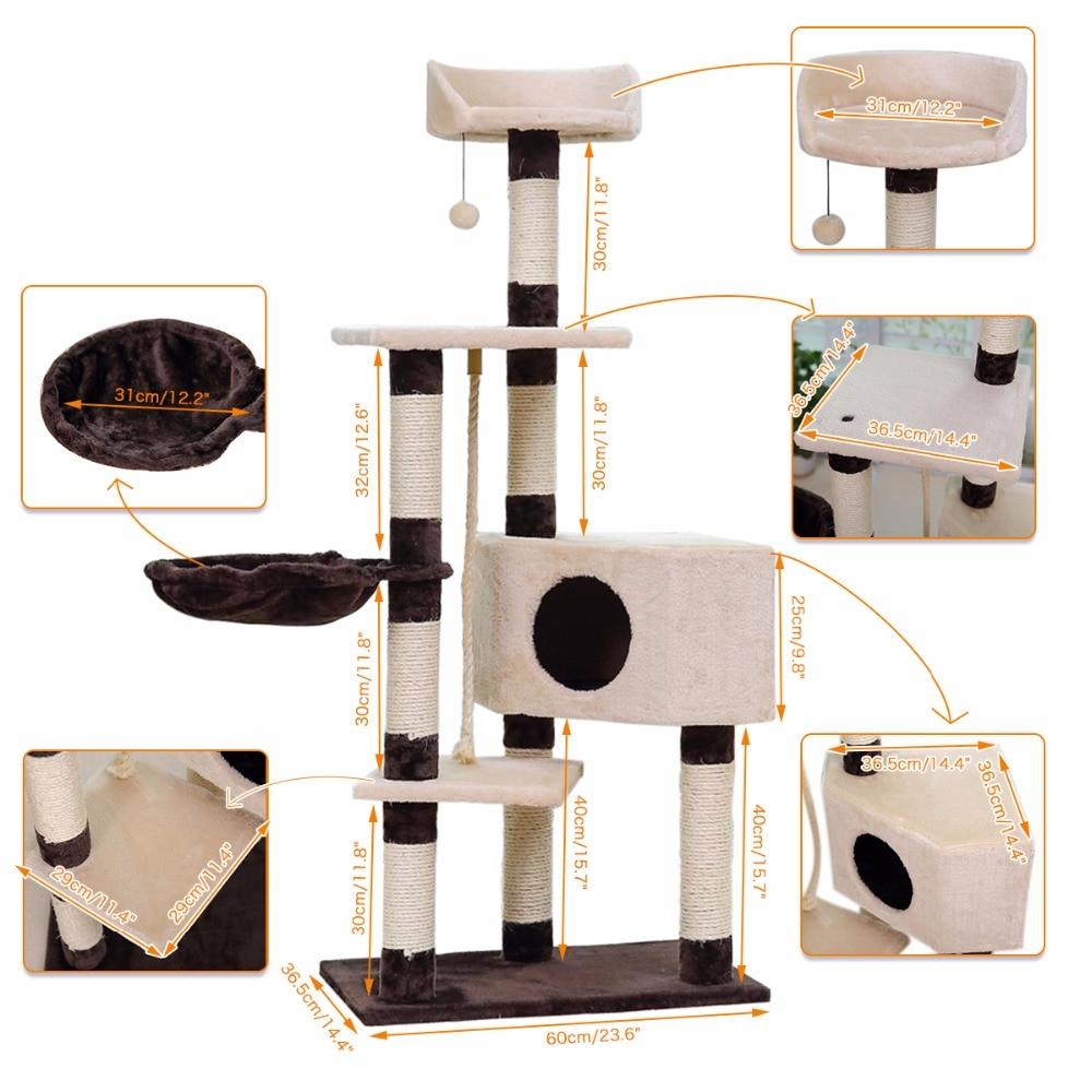 Pengiriman domestik H139cm Kucing Mainan Kucing Rumah Kucing Tidur - Produk hewan peliharaan - Foto 2