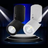 12pcs Lot 7W 12W 15W AC110V 240V LED Downlight Surface Mounted 360degree Rotating COB Recessed Lamp