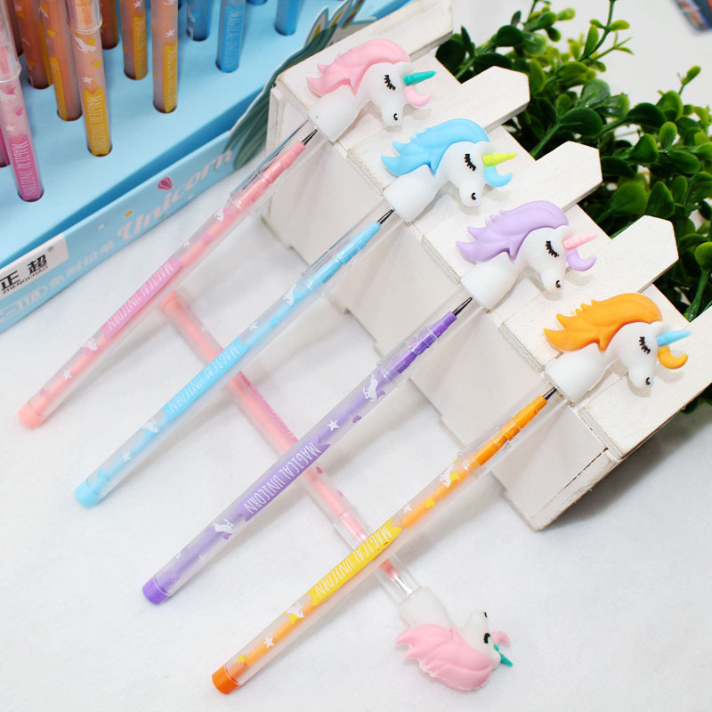 Cute Unicorn Pencil Kawaii Replaceable Pencil Novelty 2.0mm HB Pencil Refills For Kids Girls School Office Supplies Stationery