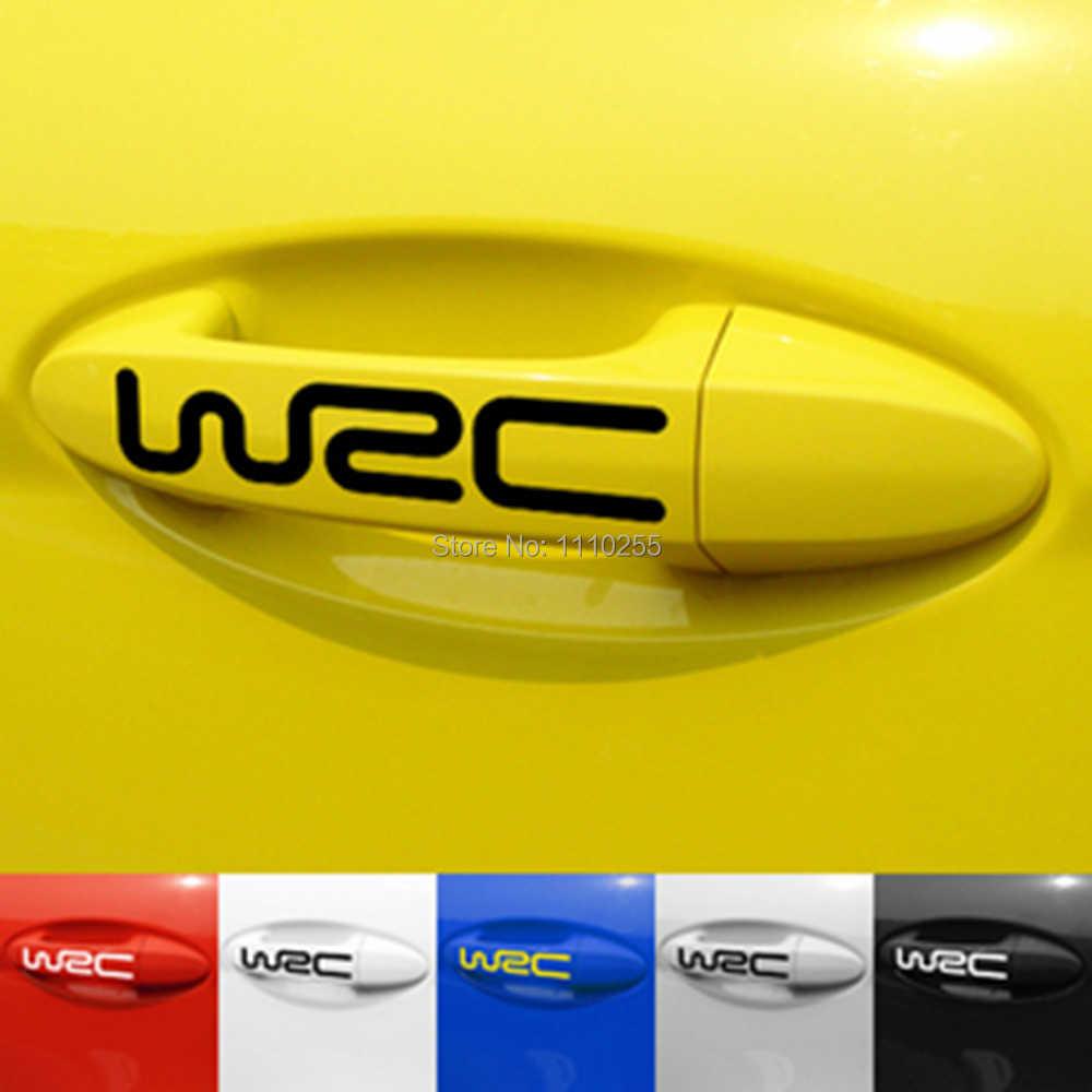 Autocollant créatif de poignée de porte de voiture d'aliauto 4 x WRC pour Toyota Ford Chevrolet Volkswagen VW Tesla Honda Hyundai Kia Lada
