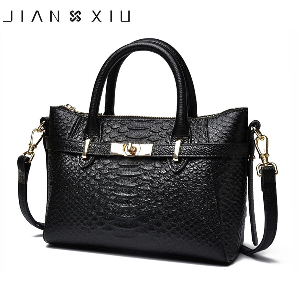 20b0352c1163 JIANXIU бренд для женщин Натуральная кожаные сумочки Известный Топ-сумочка  из коровьей кожи крокодиловая текстура сумка-мессенджер сумки на п.