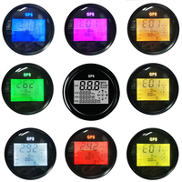 New Color backlight 85mm Car GPS Speedometer Truck Boat Digital LCD Speed Gauge Knots Compass with GPS Antenna Spiral Shell
