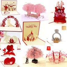 3D всплывающие открытки-приглашения на свадьбу вечерние приглашения детский душ Подарки Свадебные поздравительные открытки юбилейные подарки открытка с единорогом
