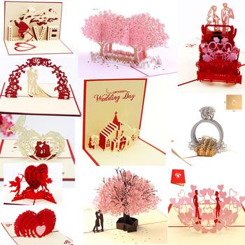 Zaproszenia ślubne 3D karty kirigami zaproszenia na przyjęcie prezenty na brzuszkowe kartka z życzeniami ślubnymi prezenty na rocznicę pocztówka jednorożca tanie i dobre opinie parehope BIRTHDAY Walentynki Dzień matki Dzień nauczyciela Ślub Święto dziękczynienia New Year Biznes Uniwersalny
