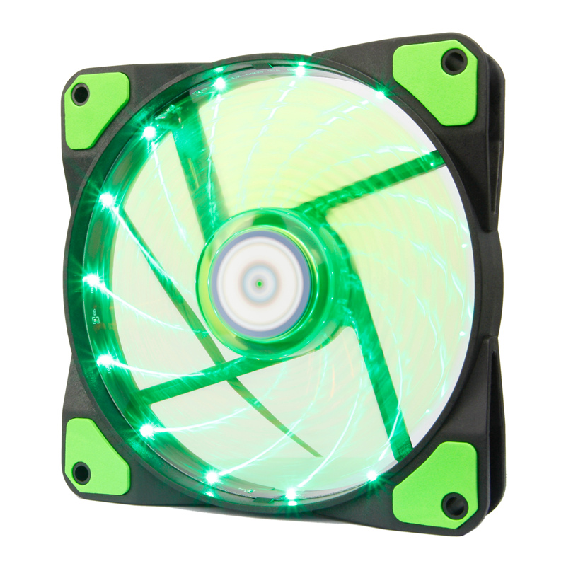 ALSEYE PC Cooler Computer Case Fan Green LED 120mm Fan Cooling 12v 1300RPM 3-4pin cooler for cpu color red blue and green alseye led fan for cpu cooler pc case 120mm computer fan dc 12v 1300rpm cooling fans 4 color available