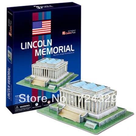 3d Puzzle Paper Craft Lincoln Memorial 1pc Three Dimensional Puzzle