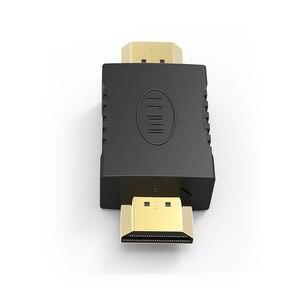 Image 3 - באיכות גבוהה HDMI ל hdmi זכר לזכר זהב מצופה מחברים מצמד EXtender מתאם ממיר עבור HDTV מחשב נייד מקרן