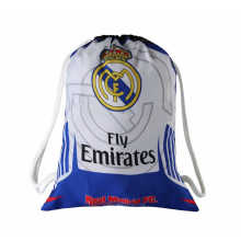 Real Madrid Football Clubs Swerve Gym Bag Soccer Drawstring Backpack Drawstring Sport Bag for Soccer Fans
