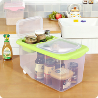Transparent Double Covered Plastic Storage Box Clothes Toy Rice Kitchenware Oranginer Holder Box Home Clean