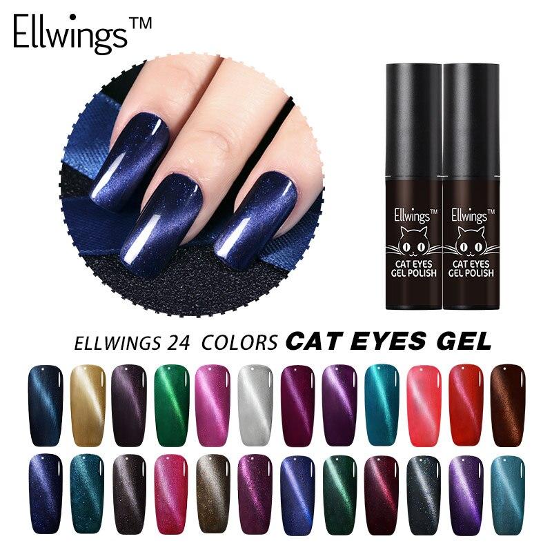 Aliexpress.com : Buy Ellwings 3D Nail Design Cat Eye Nail Gel Polish Magnet Effect Gel Varnish Base Top Gel Primer Enamel UV Gel Glitter 3D Magnetic ...