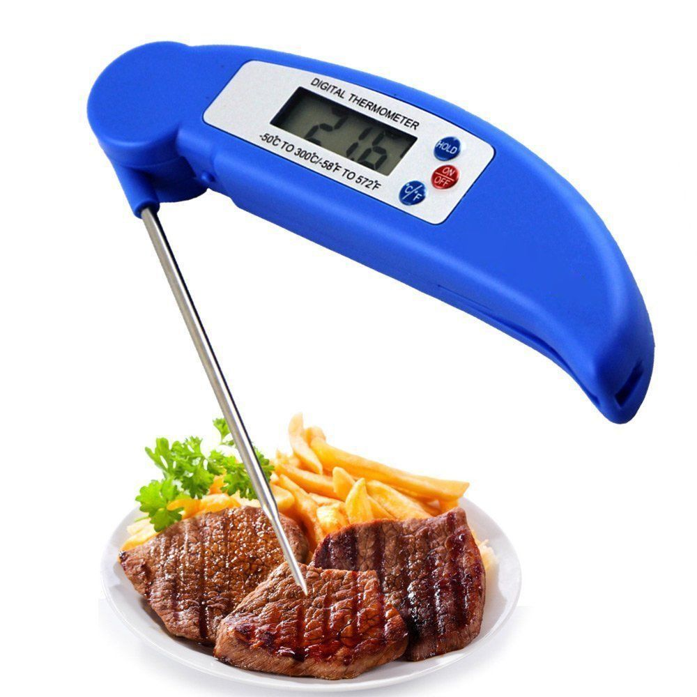 Ultra Instant Read Foldable BBQ Thermometer Auto-Off Probe Cooking Thermometer