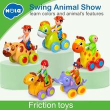 Купить с кэшбэком Cheap Baby Toys Figure Pull Back Cartoon Car Toy Push and Go Friction Powered Animal Cars Fun Toys Kids Birthday Gift