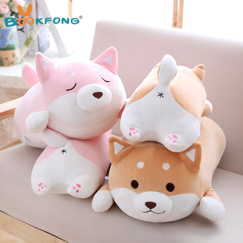 35cm Cute Fat Shiba Inu Dog Plush Toy Stuffed Soft Kawaii Animal Cartoon Pillow Lovely Gift for Kids Baby Children Birthday Gift 2016new brand cartoon beanie monsters sulley mike inc sullivan sully plush hat cute cap soft kid toy birthday gift for children