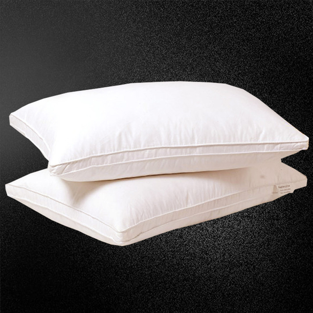 Svetanya rectangle Goose/Duck Down Pillow white color Down-proof Cotton bed pillows bedding neck almohada