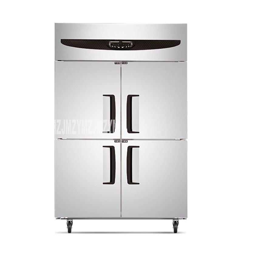 GT1.0L4ST\F 220V 420W Stainless Steel Commercial Kitchen Equipment 4 Doors Upright Freezers Refrigerators Two Temperature Range