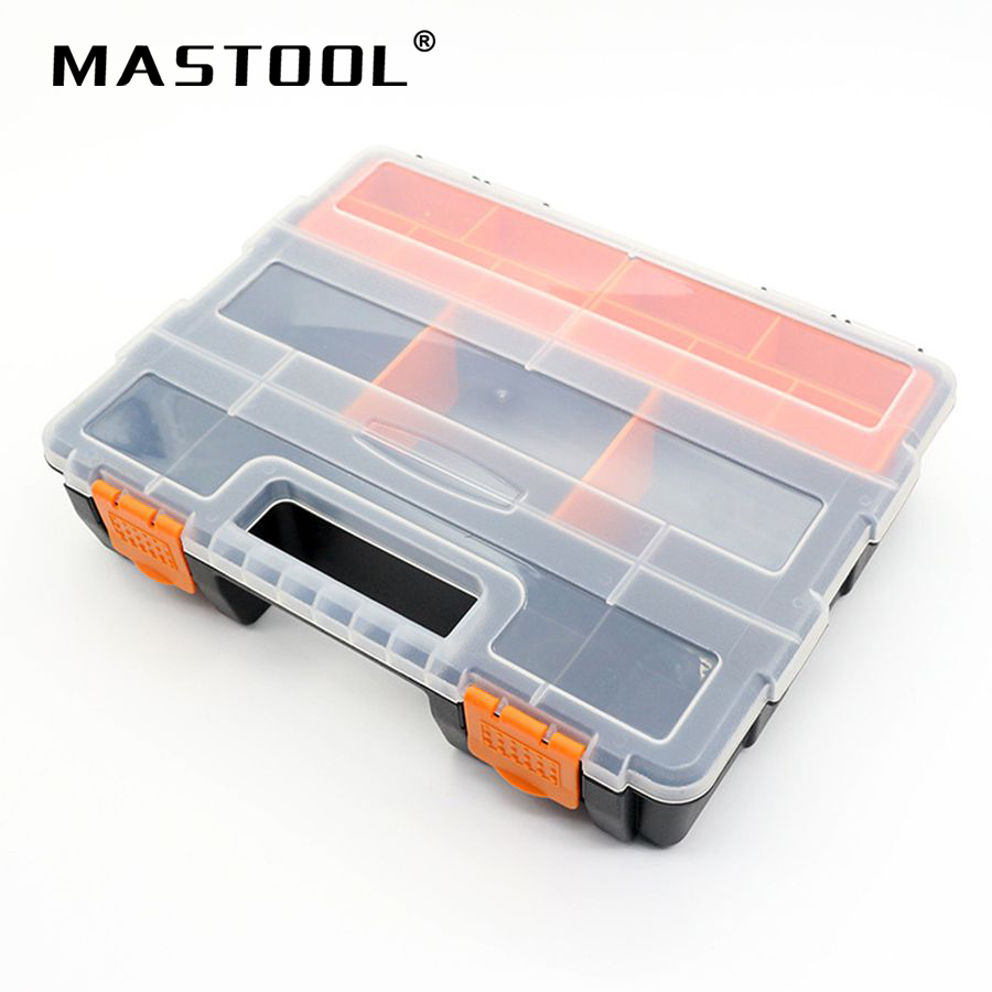 Transparent Tool Case Electronic Plastic Parts Combined Big Tool Box Screw Containers Storage Box