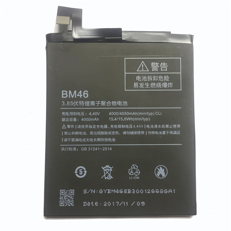 2d24952f17c YKaiserin Stable Mobile Phone Replacement Battery For Xiaomi Redmi Note 3  Note3 BM46 4000mAh Rechargeable Polymer
