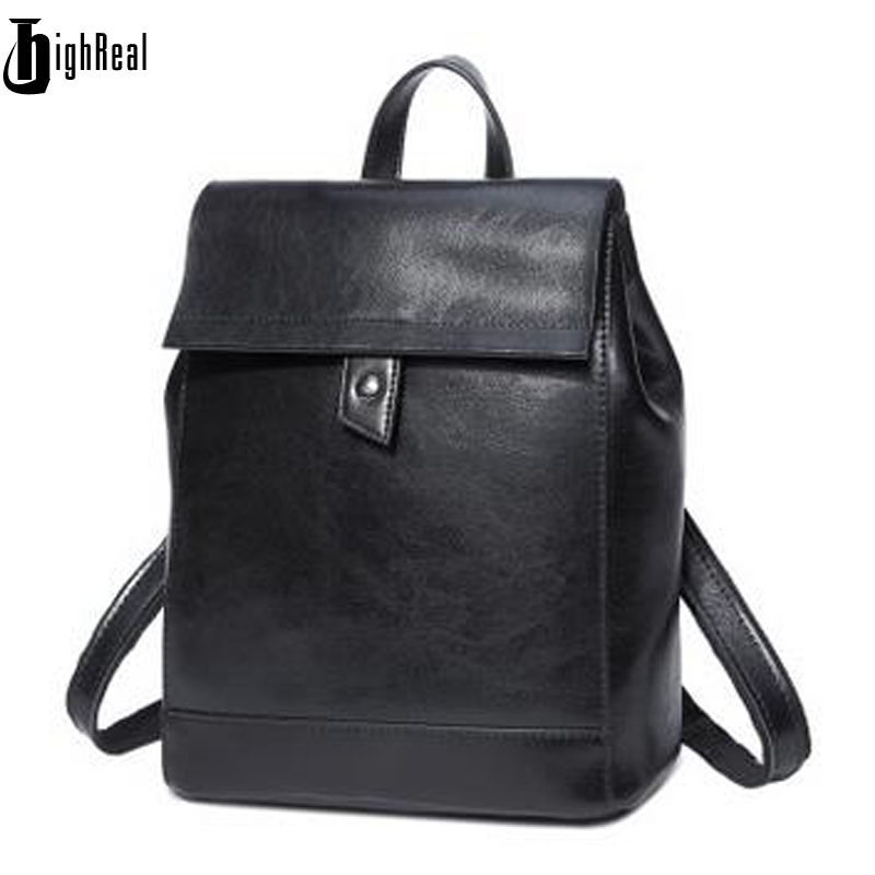 Women Soft Genuine Leather Ladies Backpack High Quality Shoulder Bags Backpacks for Teenage Girls Preppy Style