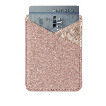 Sticker Wallet Case Voor iPhone X 8 7 Lijm Glitter Credit Card Holder Cover Voor Samsung Galaxy S8 S9 plus EEN Serie(China)
