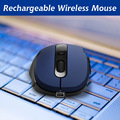 Аккумуляторная Беспроводная мышь Оптическая тихая нажмите Мышь Для Ноутбука PC Компьютер Оптическая Мышь Мыши эргономичная мышь