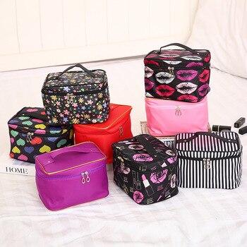 1 unid bolsa de cosméticos mujeres bolsa de maquillaje y estuche bolsa...