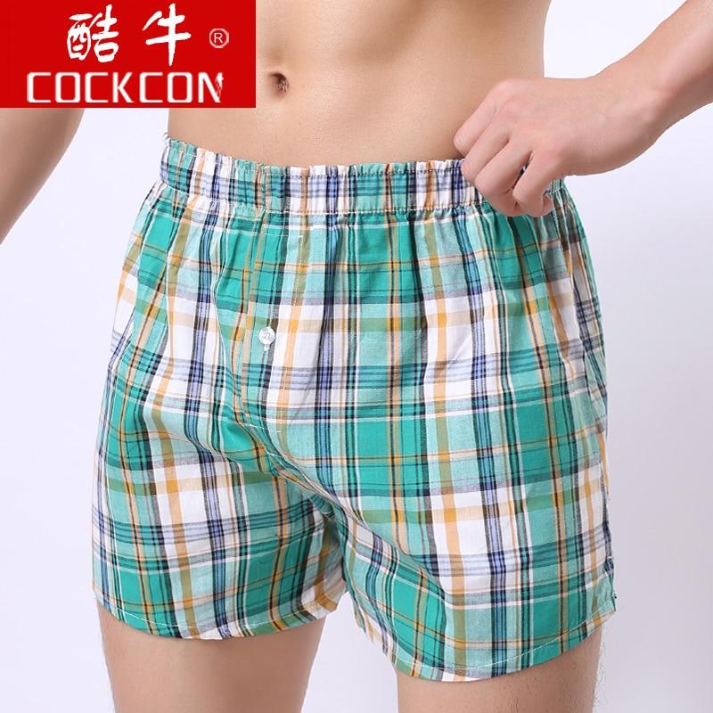 Aro cockcon 100% male cotton pajama loose lounge ultra-thin shorts beach