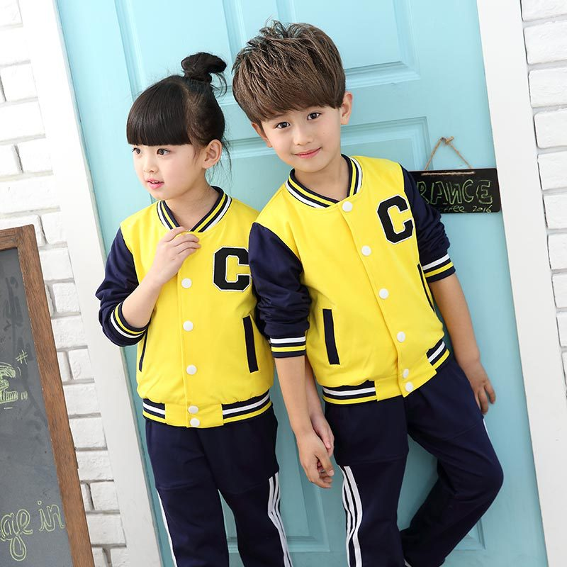 ФОТО Girls Clothing Sets Cotton Letter Print Sports Suits For Girl Tracksuits Spring Letter Kids Outfits Teenage Baseball Uniforms
